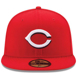 Picture of Cincinnati Reds New Era Home Authentic Collection On-Field 59FIFTY Fitted Hat - Red
