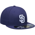 Picture of San Diego Padres New Era AC On-Field 59FIFTY Home Performance Fitted Hat - Navy