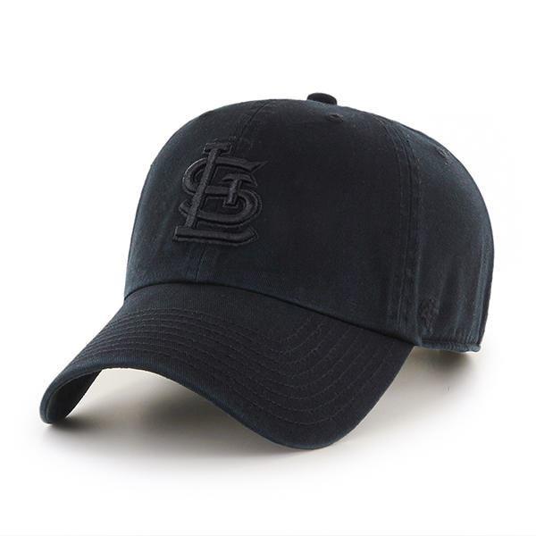 Picture of St. Louis Cardinals Black on Black '47 CLEAN UP Cap