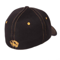 "Picture of Missouri Tigers Zephyr Black ""Undertaker"" Mesh Stretch Fit Hat Cap"