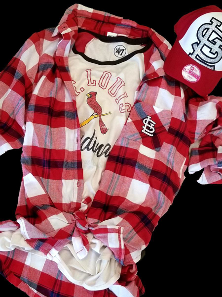 Picture of St. Louis Cardinals Playoff Ready Flannel Ensemble