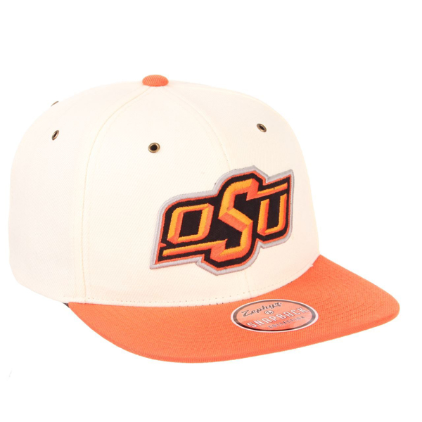 Picture of Oklahoma State University Cache (32/5 Shape) (OSU) Ivory ZClassic Adjustable Hat by Zephyr
