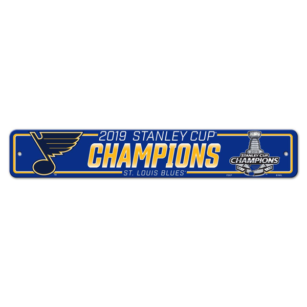 Picture of St. Louis Blues Freemont Die 2019 Stanley Cup Final Champions Series Street Sign