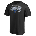 Picture of St. Louis Blues Fanatics Branded 2019 Stanley Cup Champions Goaltender Signature Roster T-Shirt - Black