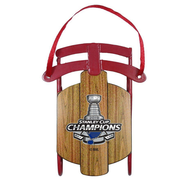 Picture of St. Louis Blues 2019 Stanley Cup Champions Metal Sled Ornament