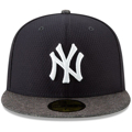 Picture of Men's New York Yankees New Era Navy/Heather Gray 2019 Batting Practice Road 59FIFTY Fitted Hat