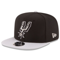 Picture of San Antonio Spurs New Era 2-Tone Original Fit 9FIFTY Adjustable Snapback Hat - Black/Gray