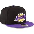 Picture of Men's Los Angeles Lakers New Era Black/Purple 2-Tone 9FIFTY Adjustable Snapback Hat