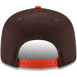 Picture of Men's Cleveland Browns New Era Brown/Orange Baycik Snapback 9FIFTY Adjustable Hat