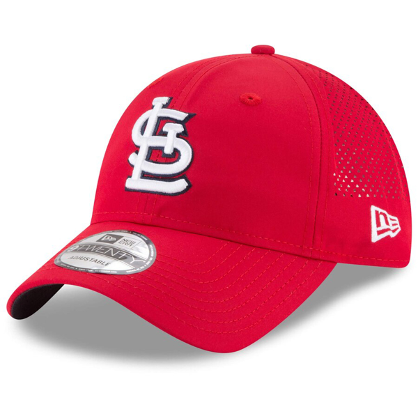 Picture of Men's St. Louis Cardinals New Era Red Perforated Pivot 9TWENTY Adjustable Hat