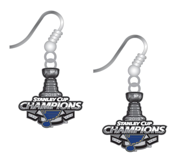 Picture of St. Louis Blues Stanley Cup Champion Ear Rings