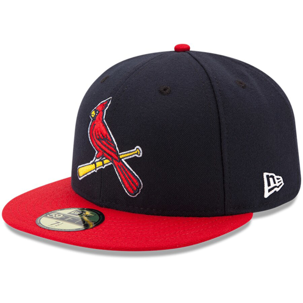 Picture of Youth St. Louis Cardinals New Era Navy/Red Authentic Collection On-Field Alternate 59FIFTY Fitted Hat