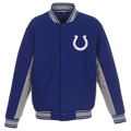 Picture of Men's JH Design Royal Indianapolis Colts Wool Reversible Full-Snap Jacket