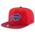 Men's Buffalo Bills New Era Red 2017 Sideline Official 9FIFTY Snapback Hat