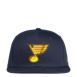 Picture of Adidas St Louis Blues Navy Blue Yellow Camo Flat Brim Mens Snapback Hat