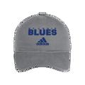 Adidas St Louis Blues Cotton Slouch Adjustable Hat - Grey