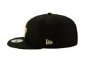 Men's Toronto Raptors New Era Black/Gold 2019/20 Alternate City Edition On Court 9FIFTY Snapback Adjustable Hat