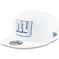 Men's New York Giants New Era White 2019 NFL Sideline Platinum 9FIFTY Snapback Adjustable Hat