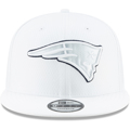 Men's New England Patriots New Era White 2019 NFL Sideline Platinum 9FIFTY Snapback Adjustable Hat